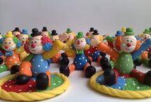 Festa Circo - Palhaço / Diversas opções de lembrancinhas em biscuit tema Festa Circo.