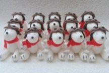 Snoopy / Lembranças em biscuit.