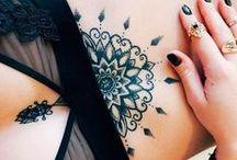 Sternum tattoo