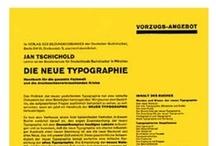 Die Neue Typographie / Inspiration