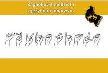 Zagadkowa Niedziela z językiem migowym / Odgadnij hasło ułożone z alfabetu języka migowego!
