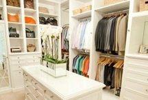 Wardrobe Storage / Ideas for wardrobe storage and layout ideas.