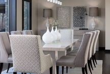 Dining Room / Dining room colours, furniture and layout ideas. Table settings.