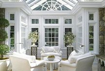 Conservatory / Decor and colour schemes for a small conservatory.