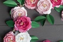 How to Make Paper Flowers/ Paper Crafts / Make paper flowers and paper crafts for your wedding and all related events. You won't have to worry about flowers wilting or dying on you with these paper flower tutorials at your fingertips.
