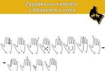 Zagadkowa Niedziela z ALFABETEM LORMA / Zagadki z wykorzystaniem alfabetu Lorma