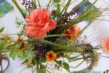 Tischdekoration / Besondere Blumengestecke und Tischdeko