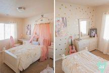 Kids' rooms / Decorating E's room in pink and A's in lavender and blue.