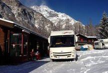 Suiza / Viaje a Suiza, temporada de nieve, con autocaravana de lujo, Carthago Compactline C 143