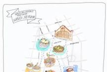 Hanoi Food Guide / When we first visited Hanoi two years ago, we had the opportunity to venture around the city and try some of the best local food we've tasted. We want to share with you an illustrated guide to Hanoi, including some hidden gems hand picked from our personal experiences to give you the best that the city has to offer.