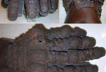 Medieval gauntlets