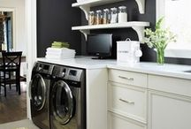 Home: Laundry Room / Inspiration and ideas for our Laundry Room/Powder Room / by Laura Machado