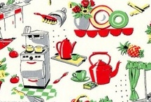 Kitchen Bits / l love old, l love green, yellow and red, l love mismatched.....