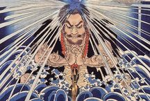 """Ukiyo-e / Ukiyo-e, """"pictures of the floating world""""), is a genre of art that flourished in Japan from the 17th through 19th centuries."""