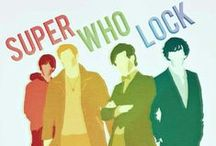 Super-Who-Lock / Supernatural, Sherlock and Doctor Who mash-up, memes etc. --Or mash-ups / memes with one or more of these and another fandom. / by Batgirl