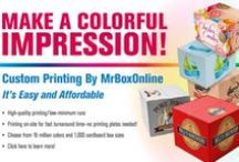 Custom Printed Logo Boxes / Make a colorful impression! With Custom Printing on your cardboard boxes by MrBoxOnline.com - High quality printing with 16 million colors available!
