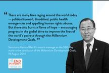 The MDGs / The eight Millennium Development Goals (MDGs) – which range from halving extreme poverty to halting the spread of HIV/AIDS and providing universal primary education, all by the target date of 2015 – form a blueprint agreed to by all the world's countries and all the world's leading development institutions. They have galvanized unprecedented efforts to meet the needs of the world's poorest.