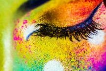 Mas inspired... eyes / You don't need to be playing Mas to rock amazing Carnival inspired eye make up.