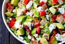 Salad / Greens & vegetables, dressings & salad / by Ria Wicker