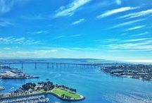 Hotel Views / As the tallest urban waterfront resort on the West Coast our panoramic views of downtown, San Diego Bay, Coronado Island and beyond are truly spectacular!