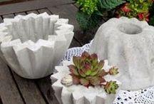 Deko aus Beton Selbermachenttt / Dekoration aus Beton zum Selbermachen, Zementdeko