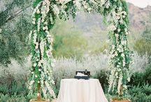 wedding backdrops + aisle