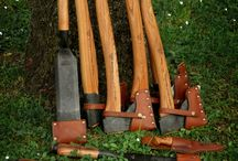 Guns,bows,knives,axes