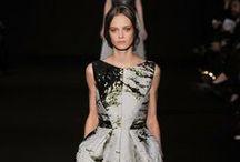 a catwalk at a fashion show / Runway....