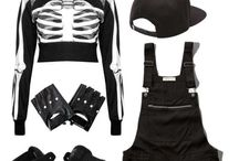 cool kids wear all black / BLACK OR WHITE