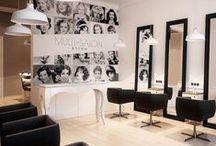 Hair salon interiors / Hair salon design inspiration