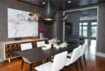 Dining Room Design / This is a collection of beautiful dining rooms, meant to inspire you on your own dining room remodeling project and give you ideas on colors and design. Some of the pictures in this board are examples of San Francisco and Bay Area dining rooms that have been custom painted by MB Jessee.