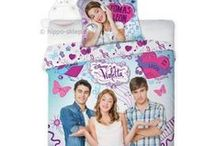 Violetta - Disney Channel / Teenagers bedding set and home textile accessories with Violetta - Disney Channel musical novel with Martina Stoessel