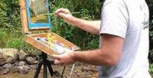 "Art Cocoon Featured Artists / Gallery of winning artists in the ""Where in the World are YOU Painting with Art Cocoons?"" CONTEST #CallForEntries #PleinAir #TravelPainting"