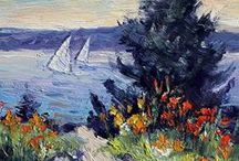 Nautical Plein Air Paintings / Painting boats and seascapes.