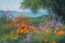 Floral Plein Air Paintings / Gardenscapes, Individual Flower Paintings, Bouquets