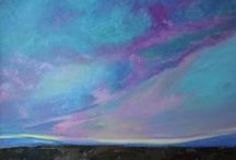 Sunsets, Sunrises, Clouds and Sky Plein Air Paintings / Beautiful scenes from above