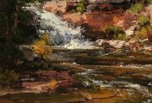 Waterfalls in Plein Air Paintings / Falling water!