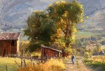 Roads and paths in Plein Air Painting / Places to walk, drive, meander...