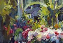 Gardens in Plein Air Paintings