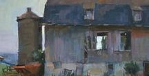 Barns & Rural Buildings in Plein Air Paintings / Art! Looking at all the ways artists paint rural buildings.