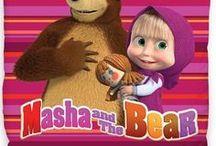 Masha and the Bear / Kids bedding collection Masha and the Bear and accessories | Kolekcja pościeli dziecięcej Masza i Niedźwiedź
