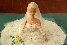Abiti Barbie - Tissage danese / Abiti Barbie e altri personaggi realizzati a mano in tissage danese o cucito di perle