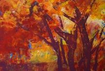 Trees art / trees abstract painting