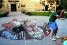 Painters from the street / Amazing optical illusions 3d