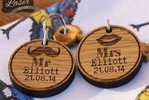 Laser Engraved personalised Key Rings