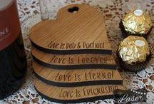 Laser Engraved personalised Love