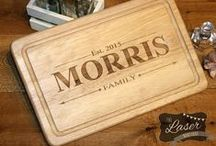 Laser Engraved personalised Chopping Board