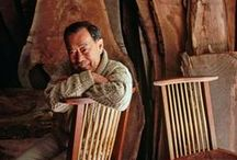 George Nakashima (1905-1990) / George Nakashima (USA, 1905-1990)A master woodworker and M.I.T.-trained architect, George Nakashima was the leading light of the American Studio furniture movement.  Nelson Rockefeller in 1973 gave Nakashima his single largest commission: a 200-piece suite for his suburban New York estate. Today, Nakashima furniture is collected by both the staid and the fashionable: his work sits in the collections of the of Art, New York's Metropolitan Museum of Art and the as well as in homes of famous people