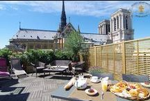 Paris Roof Garden / Paris was born on the Ile de la Cité. This apartment for rent is ideally located at the very heart of Paris, a block away from Notre Dame de Paris.It features a 7th floor with a 60M2 terrace offering a 360° view on the major monuments.