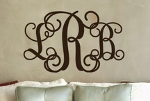 Monogram & Name Wall Decals